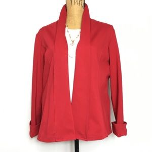 Chico's Women's Open Front Cardigan Red Sweater 2